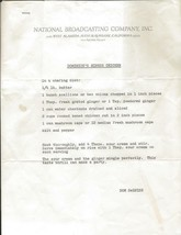 Dom Deluise 1973 Typed Letter Recipe for Ginger Chicken - $18.49