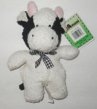 """Very Terries Cow Plush A&A Terry 06116 Stuffed Animal Beanbag 6"""" 1997 Pl... - $11.07"""