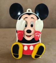 Mickey Mouse Iilco wind up peek a boo toy musical small world Walt Disney - $28.50