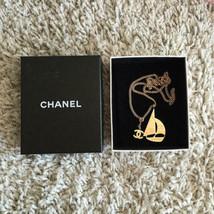 Auth Chanel Halskette Gelbgold Vergoldete Charm cc Logo CN0175 - $776.51