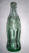 VTG COCA COLA Hobbleskirt Christmas Bottle; EMPORIA, VA; Dec. 25, 1923; ... - $3.47