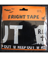 30-Ft Warning KEEP OUT Tombstone Fright Caution Tape Halloween Decoratio... - $2.82