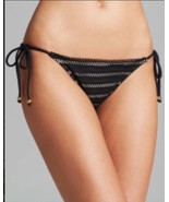 NEW PilyQ Barcelona Black Side Tie Bikini Bottom Separate (Size S) - MSR... - $24.95