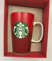 Starbucks 2015 Collectible Ceramic Red Mug Cup Christmas Holiday Burnout... - $19.79