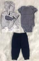 Baby boy clothes, 9 months, Carter's 3 piece whale set - $19.75