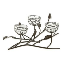 Gallery of Light Birds and Branches Triple Nest Tealight Candle Holder - $46.98