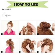 100% Real LARGE Thick Messy Bun Hairpiece NaturalHair Extension Curly image 11