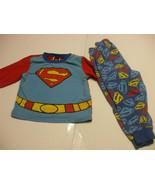 Toddlers Superman PJs Pyjamas 2T 100% Cotton  - $11.86