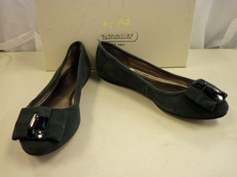 Coach New Womens Matina Kidsuede Graphite Flats 5.5 M Shoes - $88.11