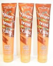 3 Bath & Body Works Holiday Ginger Bread latte Shea & sparkle Scrub 6.1 oz NEW - £19.33 GBP