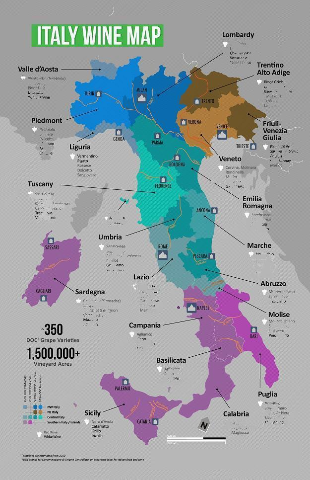 Pdf Map Of Italy.Italy Wine Map Pdf Ebook Digital Download And Similar Items
