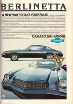 1978 Chevrolet Chevy Camaro Berlinetta Car Automobile Vintage Print Ad 1... - $6.33