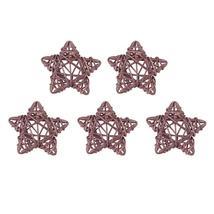 (09)5pcs 6cm Lovely Rattan Star Ball DIY Hanging Ornaments Xmas Birthday... - $14.00