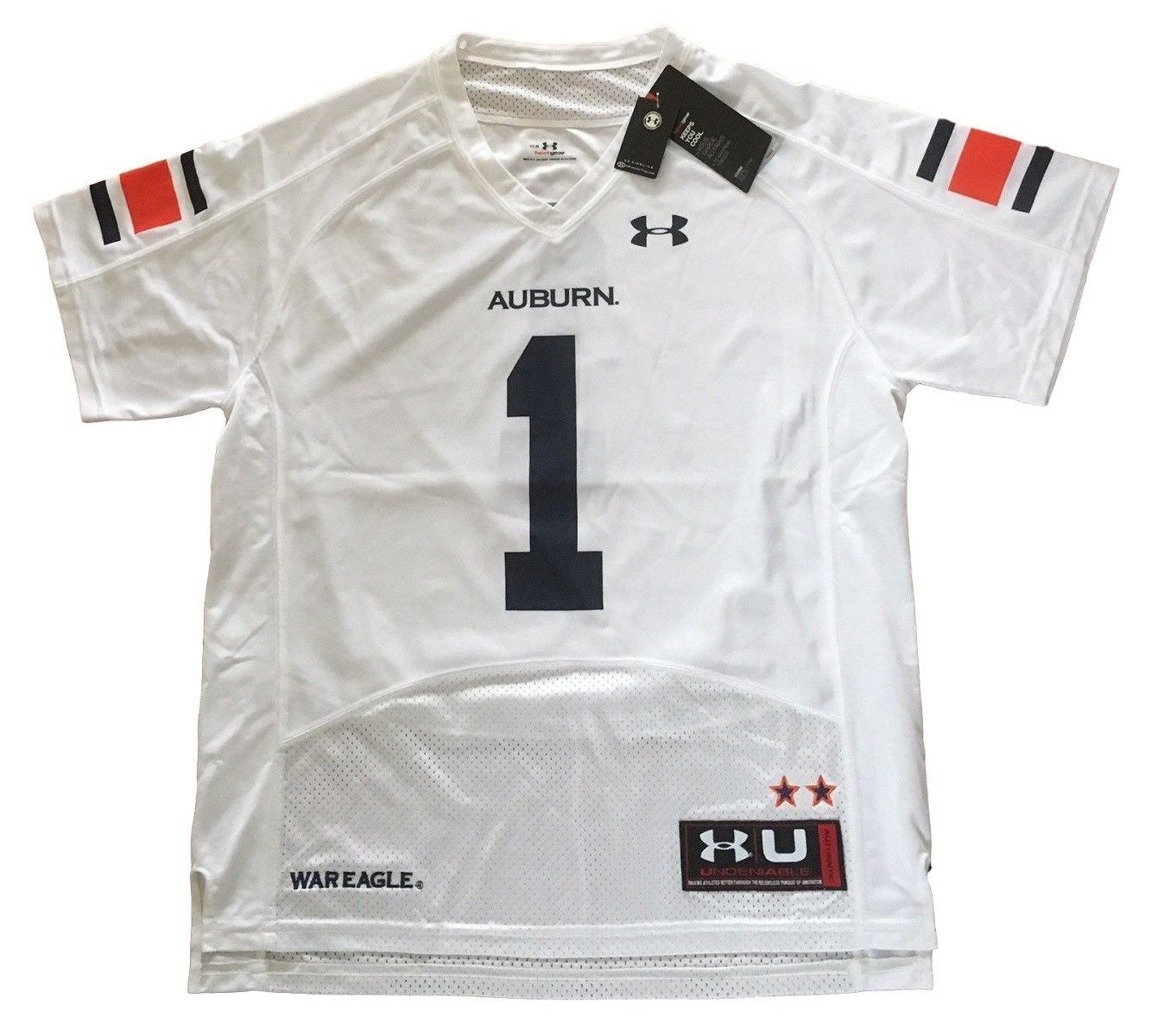 Primary image for UNDER ARMOUR NCAA AUBURN TIGERS #1 MEN'S 2XL ON-FIELD FOOTBALL JERSEY NEW
