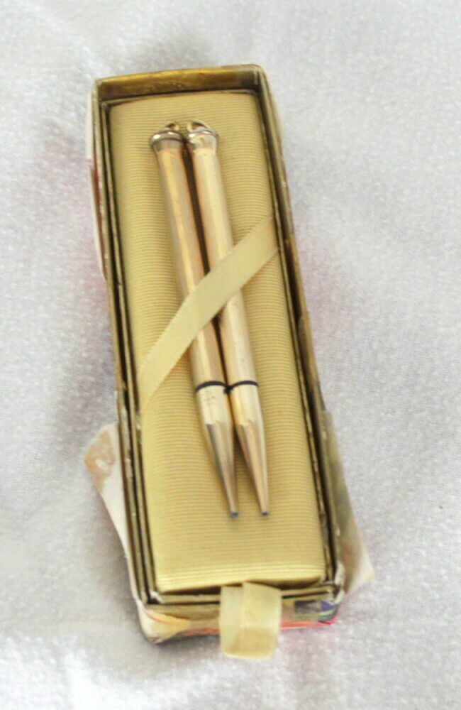 Primary image for 2 Vintage Ring Top Cross 1/30 10k RGP ring top mechanical pencil in Box