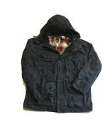 Gap X Pendleton Hooded Navy Blue Flannel Lined Zip Jacket Mens Size Medium - $89.99