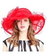 VECRY Women's Church Kentucky Derby Cap British Tea Party Wedding Hat Do... - $24.83