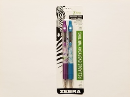 Zebra Z-Grip Advanced Assorted Ink 1.0mm Ballpoint Pen 2-pack