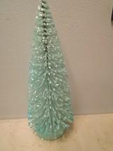 8In. Turquoise Lt. Blue Glitter Easter Bottle B... - $13.09