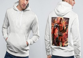 deadpool nice moment Classic Hoodie Men  White - $39.99