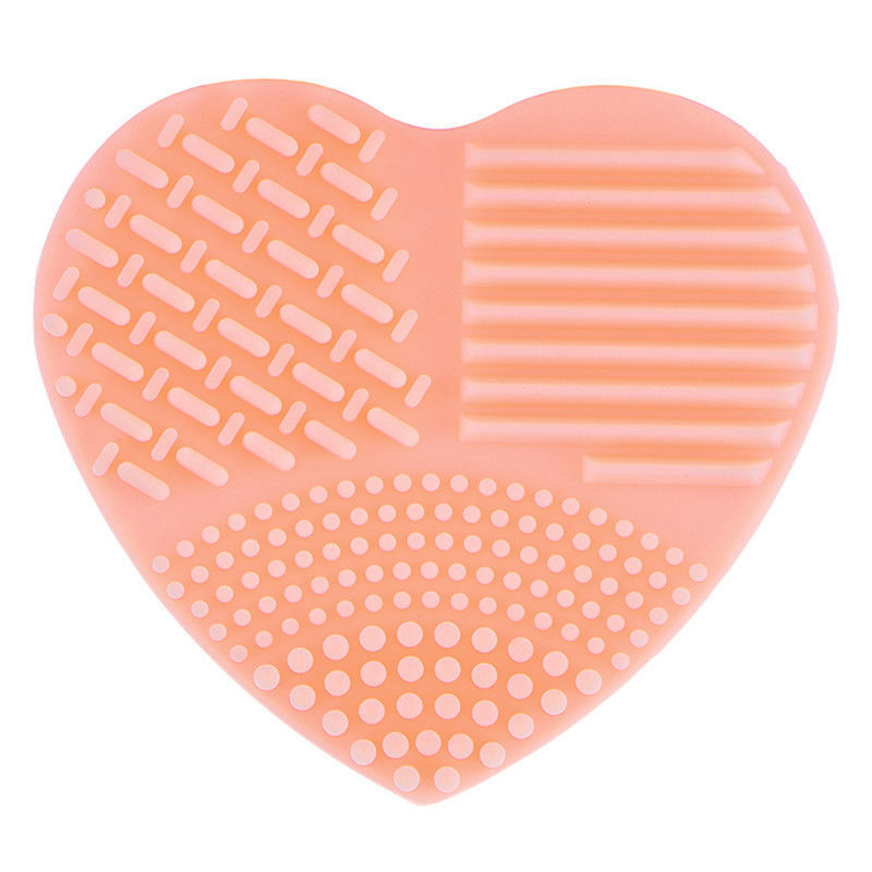 Makeup Brushes Clean Scrubber Board Mat Pad Washing Cleaner Tool Pink