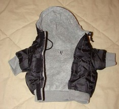 X SMALL Casual Canine Eskimo Hooded Dog Jacket BLACK Fleece Lined X SMALL - $9.95