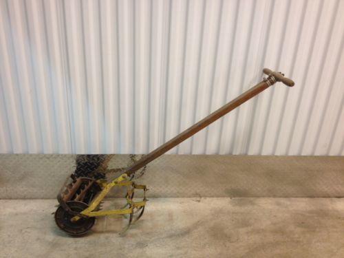 Antique Garden Tiller Iron Wood Handle And 50 Similar Items