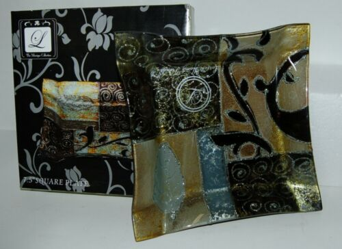 Monique Collection G844-505 Plate OOAK hand painted Lorren Home Trends 7.5 inch