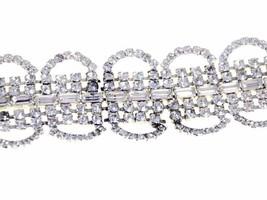 Vintage  Wide Rhinestone Bracelet For Costume Parts 1950S - $15.99