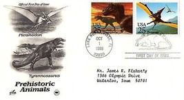 October 1, 1989 First Day of Issue, Postal Society Cover, Prehistoric An... - $1.09