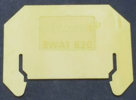 LOT OF 34 SIEMENS 8WA1820 INTERMEDIATE PLATE FOR TERMINALS SIZE 1 1.5 AND 2.5 image 4