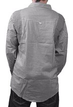 Orisue Black White Gingham Pittsburgh Long Sleeve Woven Button Down Up Shirt NWT image 2