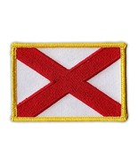 Motorcycle Jacket Embroidered Patch - Alabama State Flag - Vest, Cut, Le... - $6.99