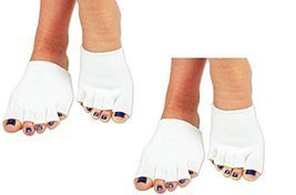 (2 Pairs) Gel Toe Compression Socks For Foot Joint Pain and Pressure Points - £17.69 GBP