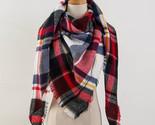 tartan cashmere scarf women plaid blanket scarf new designer acrylic basic shawls thumb155 crop