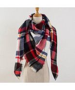 Za Winter Scarf 2018 Tartan Cashmere Scarf Women Plaid Blanket Scarf New... - $364,26 MXN