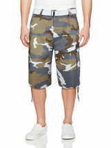 Men's Tactical Military Army Camo Camouflage Slim Fit Cargo Shorts With Belt image 11