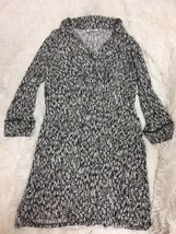 Motherhood Maternity Women's Dress Size L Brown White 3/4 Sleeve V-Neck - $19.79