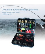 128pcs Fishing Accessories Hook Swivel Weight Storage Case Fish Tackles ... - $19.75