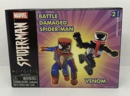 Marvel Minimates Battle Damaged Spiderman vs Venom Brand New Unopened Box - $19.31