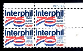 USPS Stamps Interphil '76 - Plate Block of 4 13¢ - $2.90