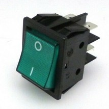 Espresso part Green Bipolar Switch with Indicator Lamp 250v 16a / 125v 16A - $8.90