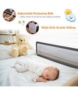 "59"" Breathable Baby Children Toddler Bed Rail - $50.75"