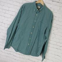 J Crew Camisa Hombre Talla L L VERDE Sunwashed Oxford - $16.23