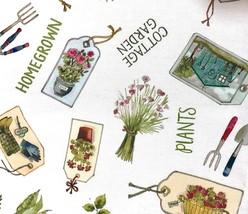 Table Runner AND 6 Napkins Garden Herbs Plans Garden Cottage Homegrown - $22.86