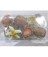 Shower Curtain Hooks Rings Sea Shells Starfish Set of 12 - $15.99