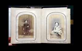 1860 antique HANNUM FAMILY & FRIENDS Photo Album brinton sharp newlin ba... - $124.95
