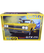 Skill 2 Model Kit 1969 Plymouth GTX Hardtop Pro Street 1/25 Scale Model ... - $56.42