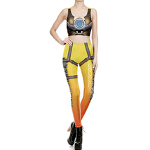 Overwatch Tracer Gym Yoga Running Set Fitness Vest Zentai Tracksuit - $27.06