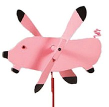 FLYING PIG WIND SPINNER - Amish Handmade Whirlybird Weather Resistant Wh... - $73.47